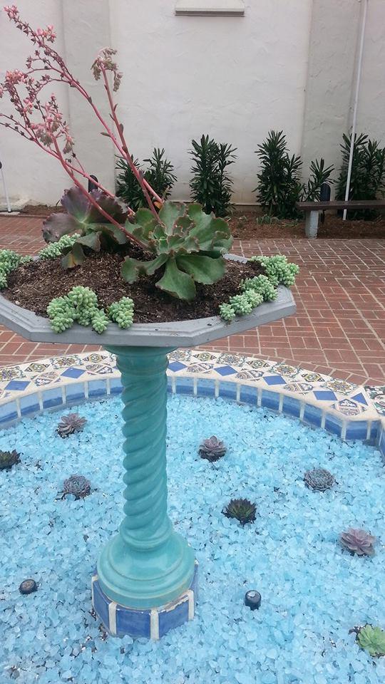 Fountain blue glass 1